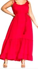 City Chic red Maxi Endless Summer small