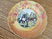 TRAVELLER GYPSY SCENE STAFFORDSHIRE BONE CHINA PLATE ARTIST SIGNED