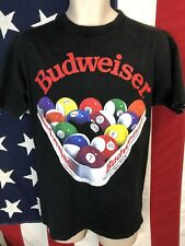 Rare Vintage 90s 1992 Budweiser Pool T-Shirt M Usa Single Stitch Beer Delta Tag