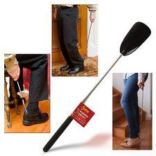 Zapato De Metal Negro Extensible Mango de Cuerno Largo Removedor De Mano Zapatos de fácil agarre