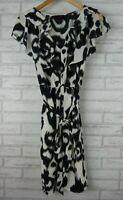 WAYNE BY WAYNE COOPER Dress Sz 8 Black, Grey, White animal print