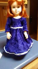 purplevelv et gown with silver trim fits American Girl doll handmade and new