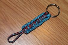 New Paracord Keychain -  Pacific red multi, Pacific blue #Q2
