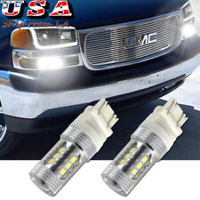 2X White High Power LED Daytime Running Light DRL Bulb For 99-06 GMC Sierra 1500