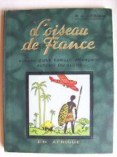 couverture Hergé Tintin oiseau de France en Afrique rare album 1935 TBE aviation