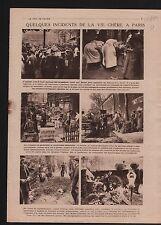 les Halles de Paris Pavillons Vente/Map Carte Alsace-Lorraine 1919 ILLUSTRATION