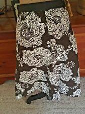 TALBOT'S Cotton Brown and White 8 Skirt EUC