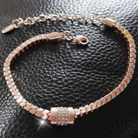 Women's Rhinestone Rose Gold Plated Crystal Bracelet s Jewelry-Fashion· Ban G2G7