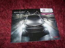 Catalogue / Brochure TOYOTA Avalon 2013 //