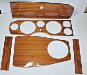 CLASSIC FIAT 124 SPIDER LHD WOOD DASHBOARD DASH 5 PIECE MADE IN ITALY BRAND NEW