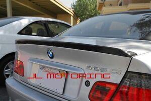 BMW E46 Carbon Fiber 3 Series Coupe 2 Door 98-06 Boot Lip Spoiler Wing UK SELLER