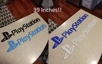 Huge! 39 inch Playstation Video game logo sign (man cave, game room)