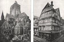 CALVADOS. Église Saint- pierre- sur- dives; Maisons anciennes, Lisieux 1900