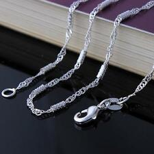 925 Sterling Silver Plated  STAMPED Link Wave Style Chain Only $12 Each