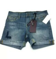 Vigoss Jean Mid Shorts The Jagger Distressed Rolled Hem Girls 12 NWT