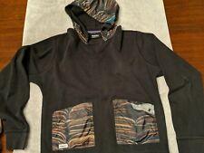 TrukFit Mens M Black Hooded Hoodie Sweatshirt 2 pockets.  EUC. FREE SHIPPING