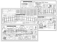 AMCO Aeromaster Full Size Balsa Model Airplane Kit Printed Plans 48in Wing Span