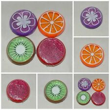 LOT OF 4 FRUIT SHAPED CRYSTAL MUD SLIME KIDS TOY #3 PARTY FAVOR EA 3 OZ. INDIANA