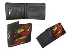 Marvel Superhero Comic Superman Boys Black Wallet Card Holder Novelty Gift