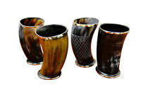 """Set of 4 Viking Drinking Horn 5"""" Glass/cups ale beer wine mead Best present Gift"""