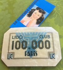 FRENCH 1920s LIDO CLUB PARIS CASINO LARGE POKER PLAQUE~RARE GAMBLING COLLECTIBLE