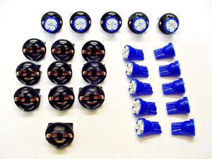 """15 Blue 4 LEDs Lights Bulbs 1/2"""" Sockets Side Marker License Plate Dash Ford 194"""