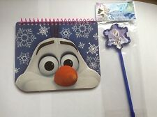 Disney Frozen Olaf Writing Memo Pad And Snowflake Pen Set