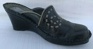Clark's Artisan Womens 5 1/2 LEFT Replacement Amputee Black Leather Mule Wedge