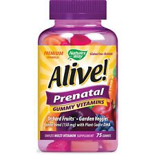 NATURE'S WAY - Alive! Premium Prenatal Gummy Vitamins - 75 Gummies