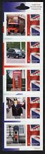 "GB: Universal Mail strip of 5 ""English Icons"" International Postcard rate stamps"