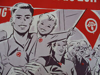 May Day March Poster Vintage Austrian Language International Workers Day 1952