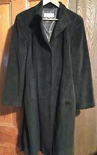 CALVIN KLEIN Women's ANGORA/WOOL Coat - US Women's Size 12 - BLACK