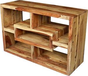 Bücherregal, Regal, Kommode, Raumteiler, Schrank, Massivholz, Highboard