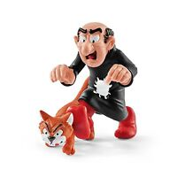 NEW SMURFS GARGAMEL WITH AZRAEL CAT SCHLEICH PVC FIGURE 20759 PEYO MINT UNUSED!!