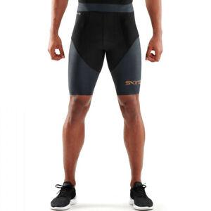 Skins Mens DNAmic Triathlon Half Tights Bottoms Pants Trousers Black Sports