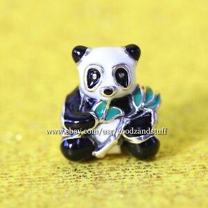 Sweet Panda Authentic Pandora Sterling Silver Enamel Charm 796256ENMX