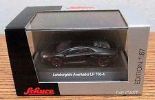SCHUCO Diecast Lamborghini Aventador LP 700-4 Black 1/87 HO