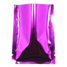 Flat Vacuum Open Top Purple Aluminum Heat Seal Bag Pack Storage Mylar Foil Pouch
