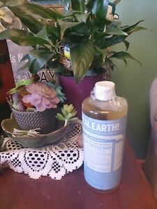 Dr Bronner's 18 in 1 Hemp baby unscented Pure Castile Soap Organic Oils 32 oz