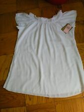 New $116 JUICY COUTURE Double Layer White Short Dress SZ L