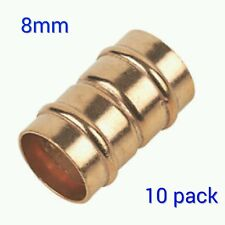 8mm Straight coupler Solder Ring Copper Pipe Fitting - 10 Pack Yorkshire type