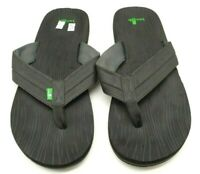 Sanuk Black Casual Slide Flip Flop Sandals Shoes Men's 14