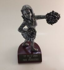 Cheerleader Figure Resin Trophy! Free Engraving! Ships In 1 Business Day!