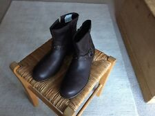 NEW Clarks Kelpie Flo Brown Leather Ankle Boots Ladies Older Girls UK Size 5.5 F