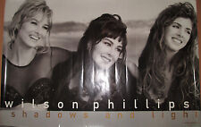 Wilson Phillips Shadows & Light, Emi promotional poster, 1992, 24x36, Vg