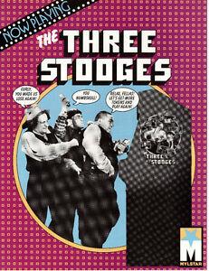 THREE STOOGES Original Promo Video Arcade Flyer MYLSTAR GOTTLIEB 1984 Ad Slick