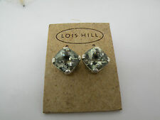 LOIS HILL STERLING SIVER GREEN GARNET FACETED EARRING NEW