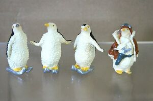 GOOD SOLDIERS BRITAINS PENGUIN SKIING and in FLIGHT JACKET FISHING LEAD FIGURE m