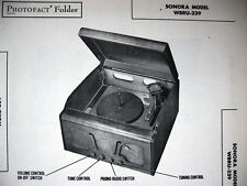 SONORA WBRU-239 PHONO-RADIO PHOTOFACT