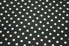 1  x Metre Quilt Patchwork Fabric Brown + Pale Pink Spot 100% cotton ONE METRE!